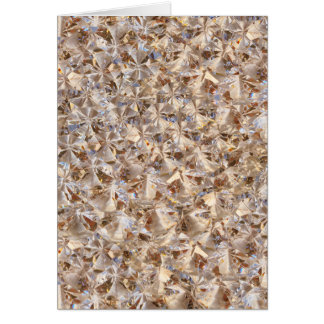 Ice Amber Diamond Crystals Glitter Bling Greeting Card