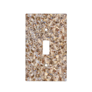 Ice Amber Diamond Crystals Glitter Bling Switch Plate Cover