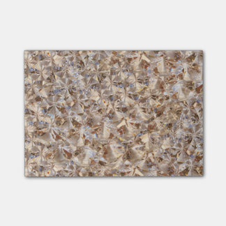 Ice Amber Diamond Crystals Glitter Bling Post-it® Notes