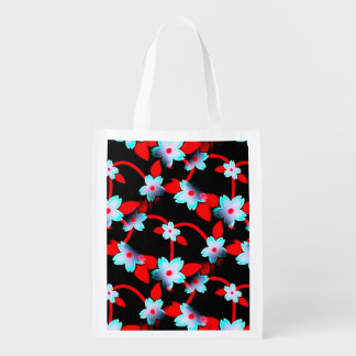 Ice and Fire Vine Pattern Reusable Grocery Bags