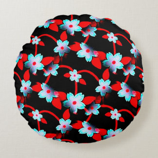 Ice and Fire Vine Pattern Round Pillow