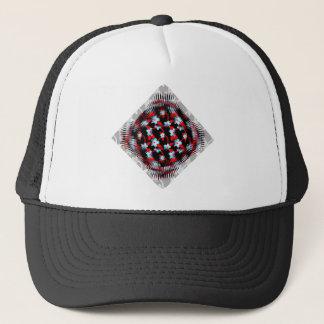 Ice and Fire Vine Pattern Trucker Hat