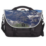 Ice and rocks in the Swiss Alps Laptop Messenger Bag