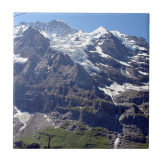 Ice and rocks in the Swiss Alps Ceramic Tiles