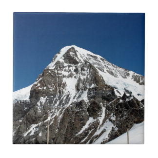 Ice and snow in the Swiss Alps Ceramic Tiles