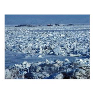 Ice and Village Postcard