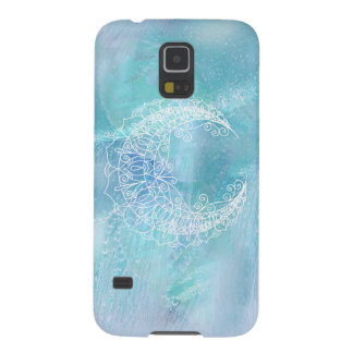 Ice Aqua Blue Lavender Bohemian Moon Pastel Case For Galaxy S5