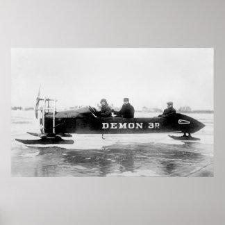 Ice Auto at Duluth, 1910s Print