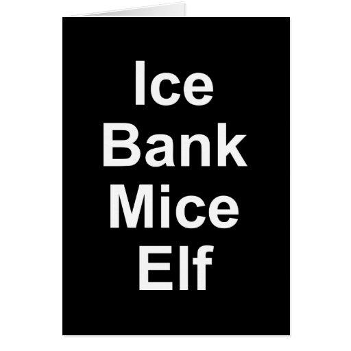 Ice Bank Mice Elf Greeting Card