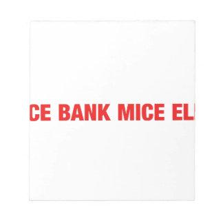 Ice bank mice elf note pad