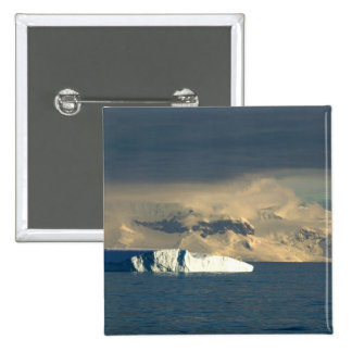 Ice Berg in the starts of the Drake Passage just 2 Inch Square Button