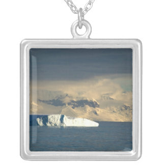Ice Berg in the starts of the Drake Passage just Silver Plated Necklace