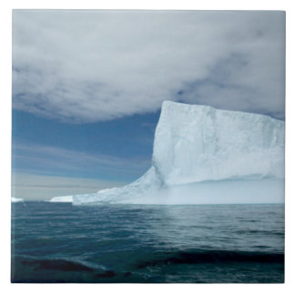 Ice Bergs off of the southern tip of South 2 Ceramic Tile