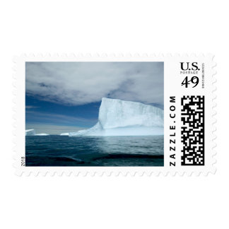 Ice Bergs off of the southern tip of South 2 Postage Stamp