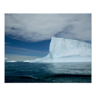 Ice Bergs off of the southern tip of South 2 Poster