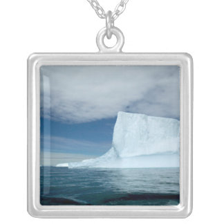 Ice Bergs off of the southern tip of South 2 Silver Plated Necklace