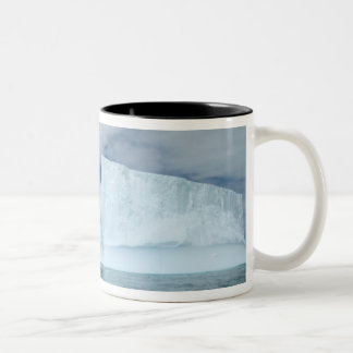 Ice Bergs off of the southern tip of South 2 Two-Tone Coffee Mug