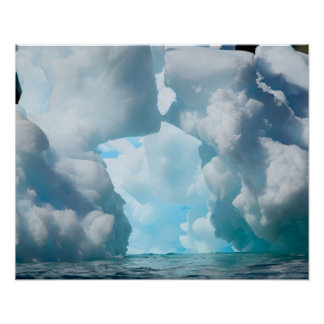 Ice Bergs off of the southern tip of South Print