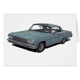 Ice Blue 62 Impala Card