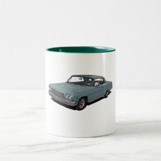 Ice Blue 62 Impala Two-Tone Coffee Mug
