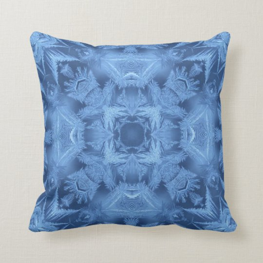 Ice Blue Abstract Throw Pillow