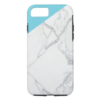 Ice Blue and marble iphone cover