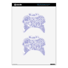 Ice Blue and White mix -SK- Xbox 360 Controller Skin
