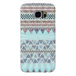 Ice Blue Boho Tribal Stripes Starburst Samsung Galaxy S6 Cases