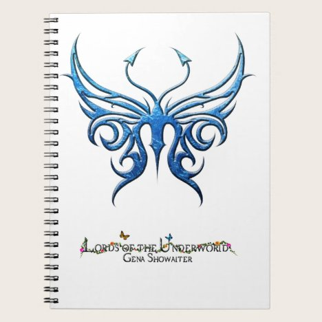 Ice blue butterfly notebook! notebook