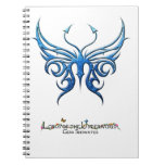 Ice blue butterfly notebook! spiral notebooks
