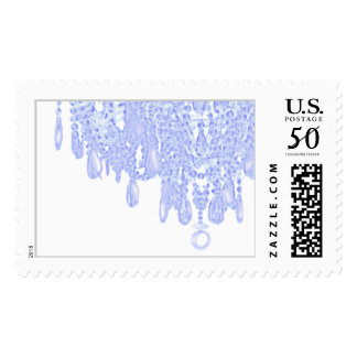 Ice Blue Chandelier Postage Stamp - Customized
