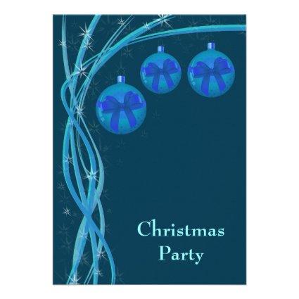Ice Blue Christmas Baubles Announcement