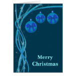 Ice Blue Christmas Baubles Cards