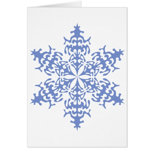 Ice Blue Christmas Winter Snowflake Card