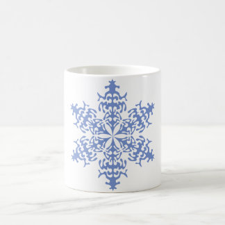 Ice Blue Christmas Winter Snowflake Mugs