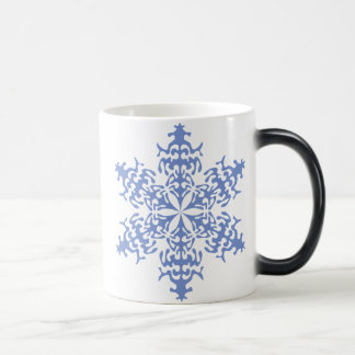 Ice Blue Christmas Winter Snowflake Mug