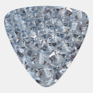 Ice Blue Diamond Crystals Bling Guitar Pick
