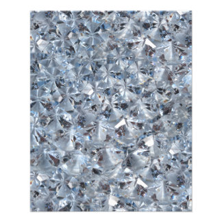 "Ice Blue Diamond Crystals Glitter Bling 4.5"" X 5.6"" Flyer"