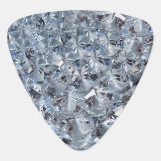 Ice Blue Diamond Crystals Glitter Bling Pick