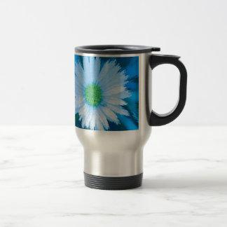 Ice Blue Flower Travel Mug