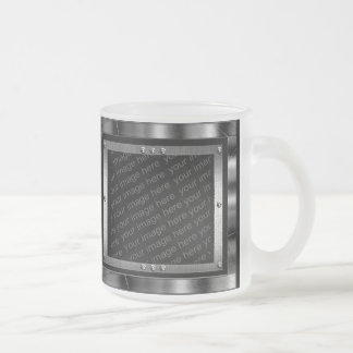 Ice Blue Frosty Metal Photo Frames Mug