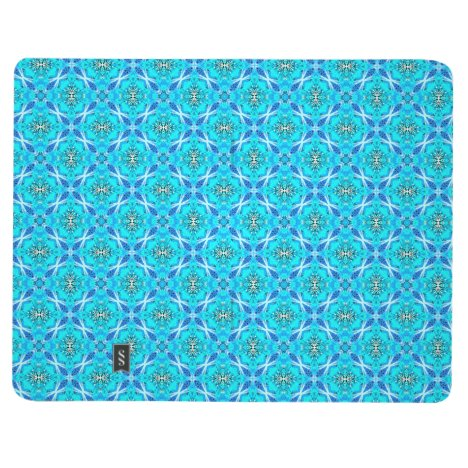 Ice Blue Infinity Signs Abstract Aqua Cyan Flowers Journal