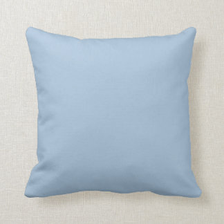 Ice Blue Light Baby Solid Trend Color Background Throw Pillow