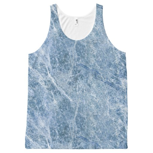Ice Blue Marble Texture All-Over Print Tank Top Tank Tops, Tanktops Shirts