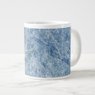 Ice Blue Marble Texture Giant Coffee Mug