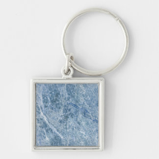 Ice Blue Marble Texture Keychain