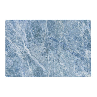 Ice Blue Marble Texture Laminated Place Mat