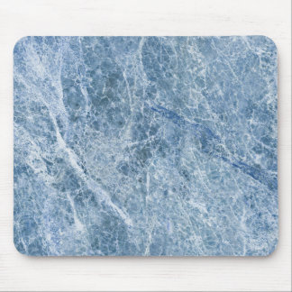 Ice Blue Marble Texture Mouse Pad