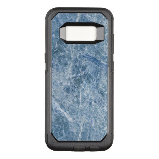 Ice Blue Marble Texture OtterBox Commuter Samsung Galaxy S8 Case