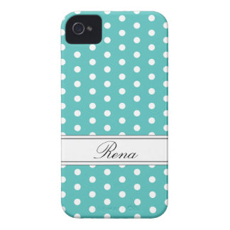 Ice Blue Polka Dot iPhone 4/4S Case